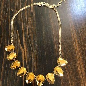 JCrew Metallic Gold Statement Necklace